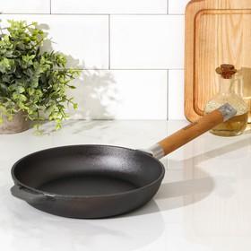 Сковорода чугунная 22 см со съемной ручкой, дно 18 см