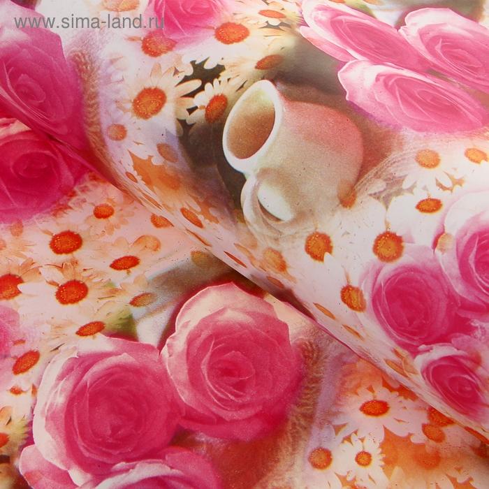 """Бумага упаковочная """"Три розы и кувшин"""""""