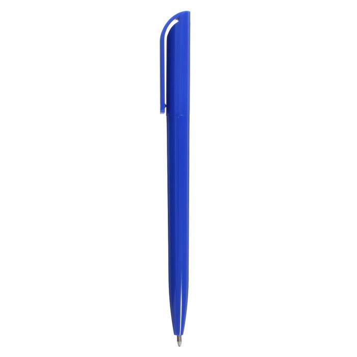 Ручка шариковая поворотная Лого корпус синий, стержень синий