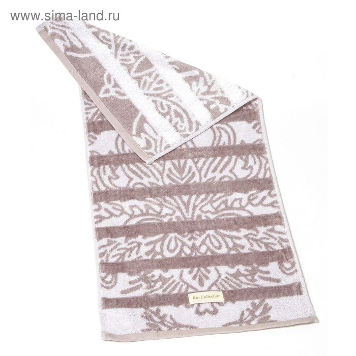 "Полотенце махровое Купу-Купу ""Bio-натурель"", размер 32х70 см, цвет тёмно-серый, бамбук 420 г/м2"
