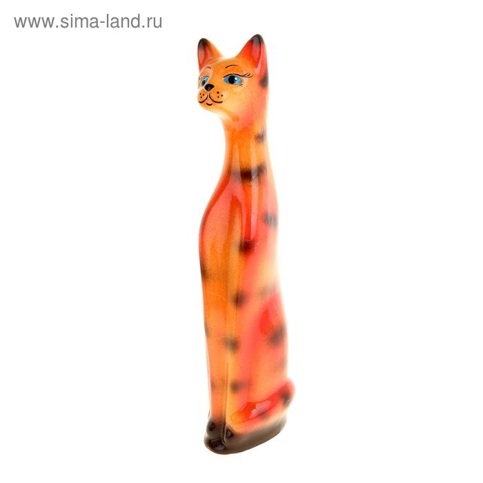 """Копилка """"Кот"""" малая, глянец, рыже-полосатая, микс"""