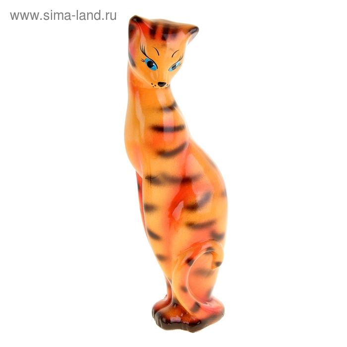 """Копилка """"Кошка Багира"""" большая, глянец, тигровая"""