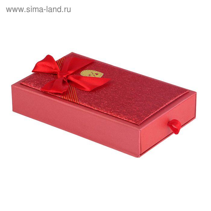 """Коробка подарочная """"Сияние"""", цвет красный"""