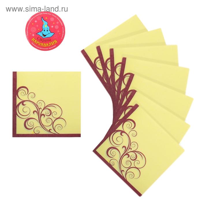 """Салфетки бумажные (набор 20 шт) 33*33 см """"Вензеля"""" фиолетовый"""