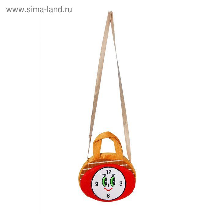 "Мягкая сумочка ""Часики"", цвета МИКС"