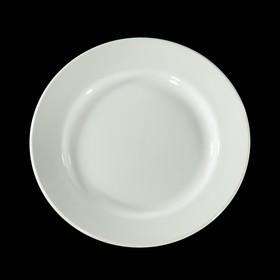 Тарелка мелкая d=20 см, высота 2,9 см, цвет белый