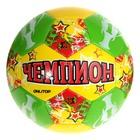 """Мяч футбольный """"Чемпион"""", 32 панели, PVC, 3 подслоя, машинная сшивка, размер 5"""