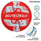 Мяч волейбольный Ornament, 18 панелей, PVC, 3 подслоя, машинная сшивка, размер 5