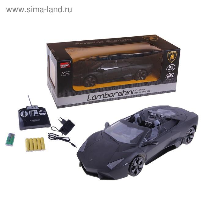 Машина на радиоуправлении Lamborghini Reventon Roadster, масштаб 1;14, цвет матовый чёрный