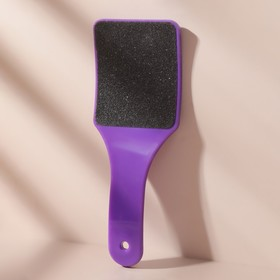 Тёрка для ног двусторонняя наждачная, широкая, изогнутая, цвета МИКС Ош