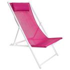 Кресло-шезлонг, до 70 кг, размер 134 х 60 х 100 см, цвет сиреневый