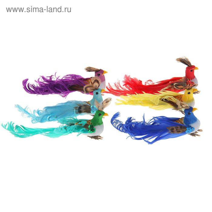 "Декор ""Птички"" на палочке, цвета МИКС"
