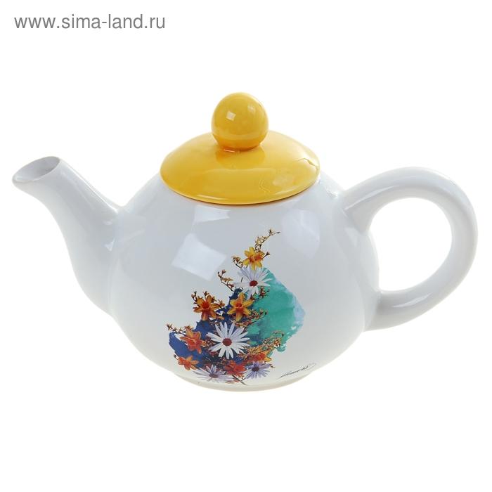 """Чайник заварочный 800 мл """"Осенние цветы"""""""