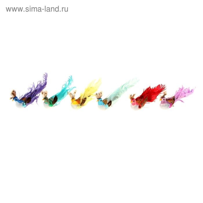 "Декор ""Птички"" на прищепке , цвета МИКС"