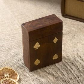 Колода карт в деревянной шкатулке Ош