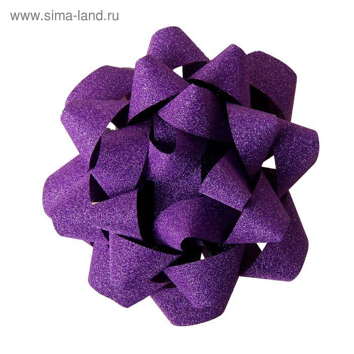 """Бант-звезда №12 """"Алмазная крошка"""", цвет фиолетовый"""
