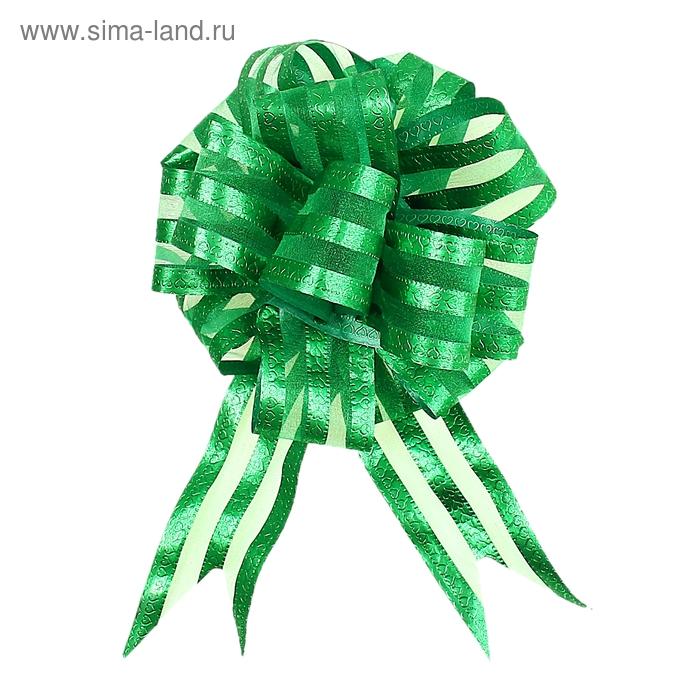 """Бант-шар №5 """"Игра сердец"""", цвет зелёный"""