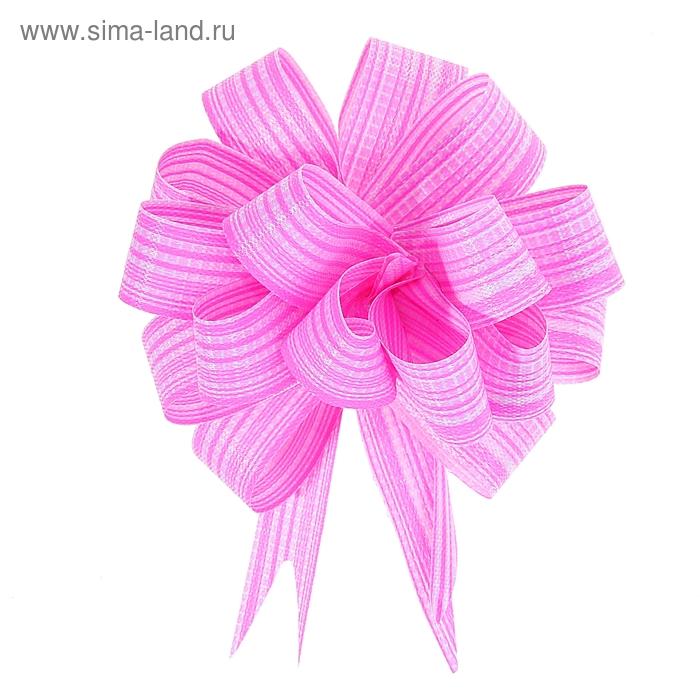 """Бант-шар № 1,8 """"Тонкие полоски"""", цвет розовый"""