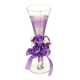 """Свеча гелевая """"Королевский цветок"""", цвет фиолетовый"""