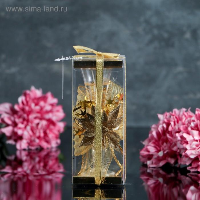 "Свеча гелевая ""Нежный цветок"", цвет золото"