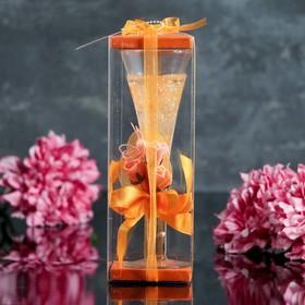 """Свеча гелевая """"Королевский цветок"""", цвет оранжевый"""