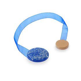 "Подхват для штор на ленте ""Лунный камень"", набор 2шт, цвет синий"