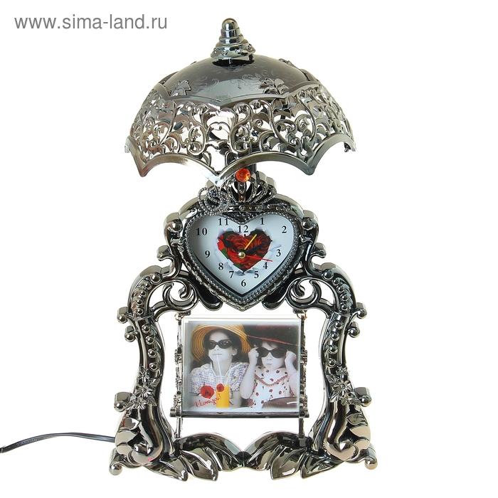 """Часы-светильник с будильником """"Сердце"""""""