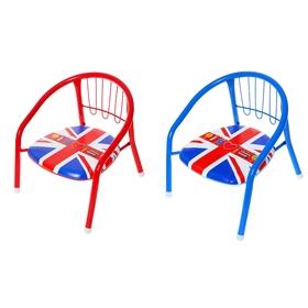 Стул детский с пищалкой «Я люблю Лондон», мягкое сиденье 27х27 см, высота до сиденья 16 см, цвета МИКС