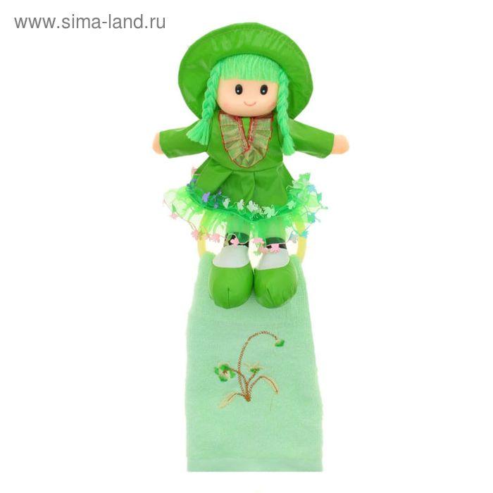 """Мягкая игрушка кукла держатель+полотенце """"Катрин"""", цвета МИКС"""