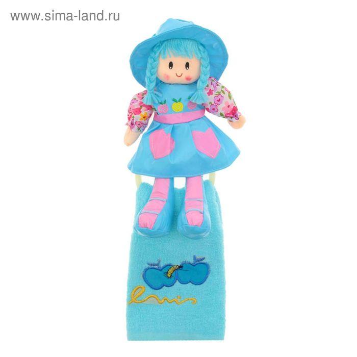 """Мягкая игрушка кукла держатель+полотенце """"Оля"""", цвета МИКС"""