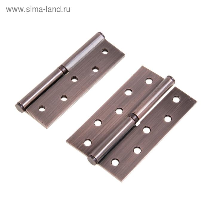 Набор петель дверных разъёмных 1BB, 125х75х2.5 мм, левые, цвет медь, 2 шт.