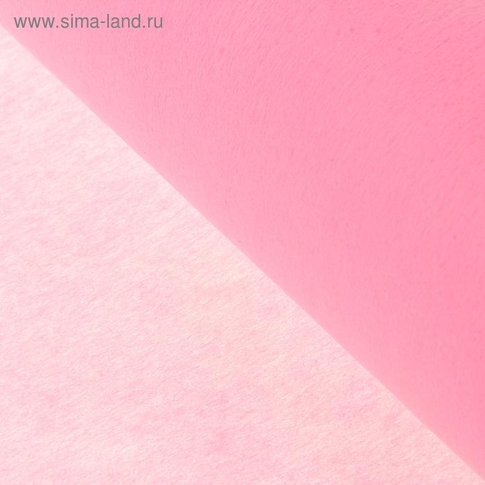 Фетр однотонный розовый 50 см х 18,2 м