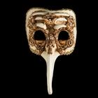 Маска Naso Turco Macrame Gold, Венеция