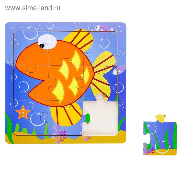"""Пазл на толстом основании """"Рыбка"""", 9 элементов"""