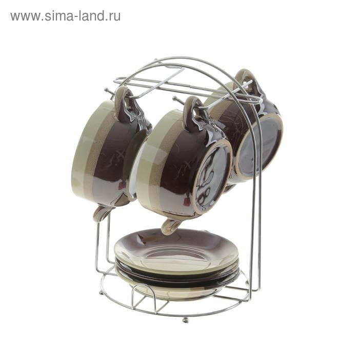 "Набор бульонниц с подставками на 3 персоны 200 мл (9,5х4 см) ""Мия"" УЦЕНКА"