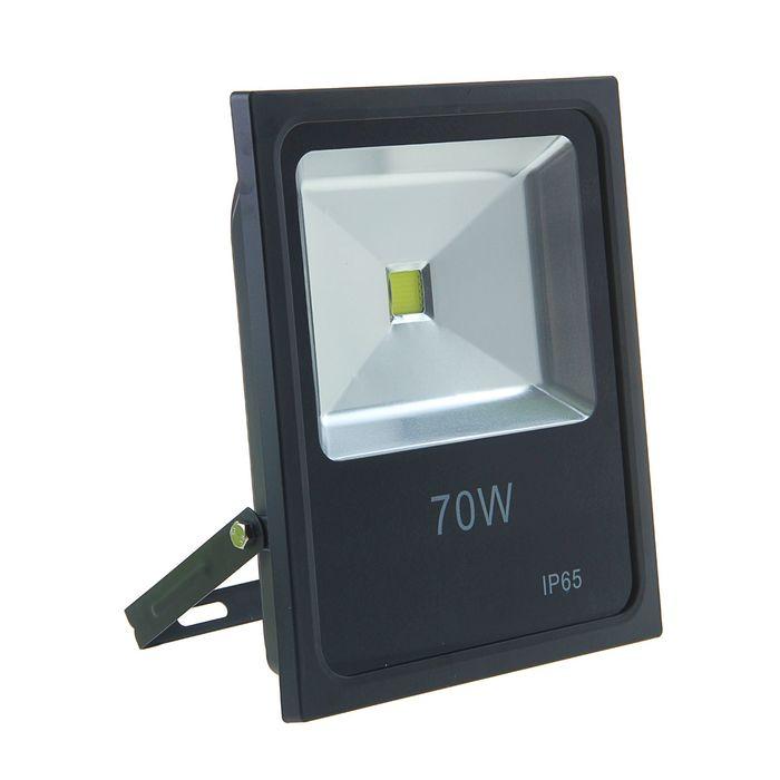 Прожектор светодиодный серия SLIM 70W, IP66, 6300Lm, 6000К БЕЛЫЙ ХОЛОДНЫЙ