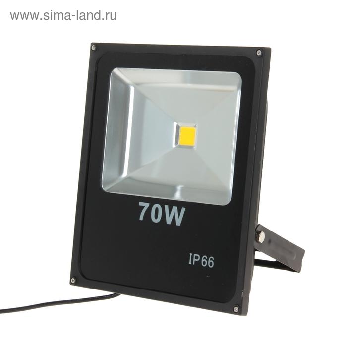 Прожектор светодиодный серия SLIM 70W, IP66, 6300Lm, 4000К БЕЛЫЙ ТЕПЛЫЙ