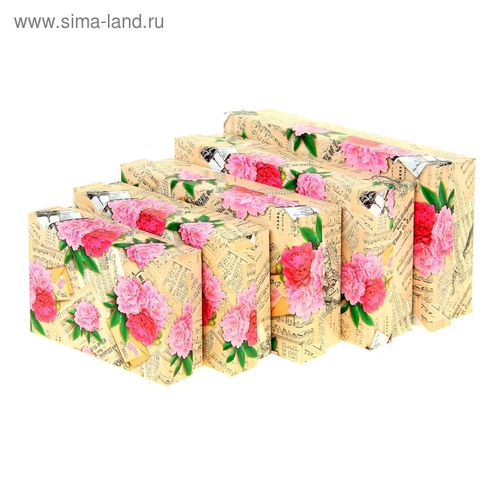 """Набор подарочных коробок 5 в1 """"Пионы винтаж"""""""