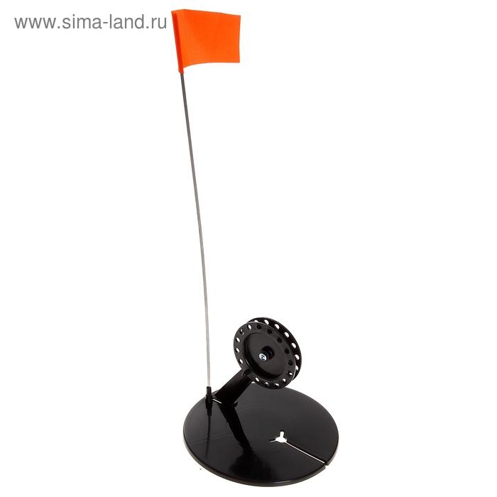 Жерлица круглая с угловой стойкой, d=190 мм, катушка d=90 мм