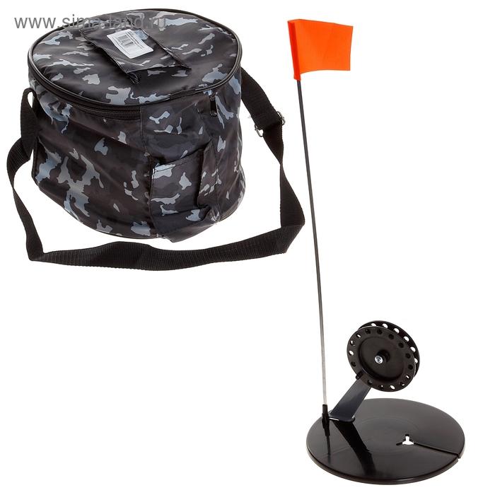Жерлица круглая с угловой стойкой d=190 мм в сумке (набор 10 шт)