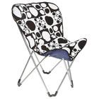 Кресло складное Lui, до 80 кг, размер 84 х 76 х 90 см, цвет чёрно-белый