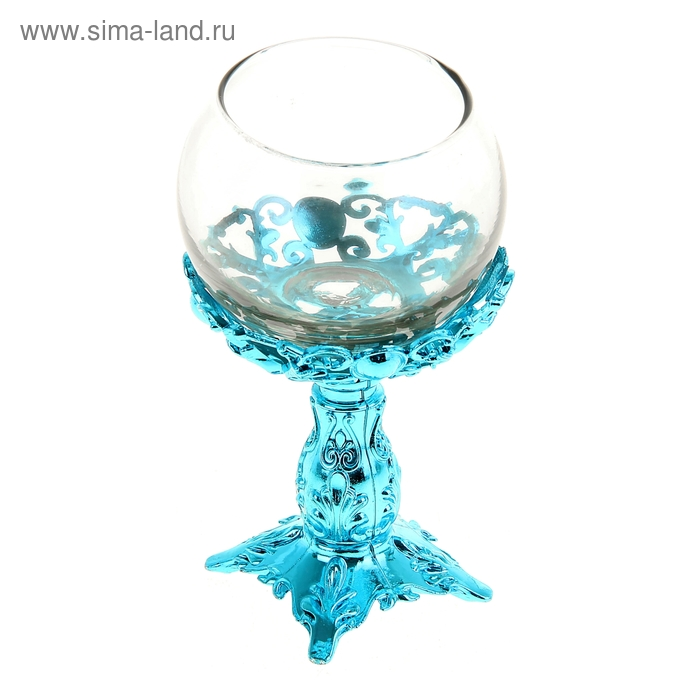 """Подсвечник """"Изабелла"""", цвет голубой"""