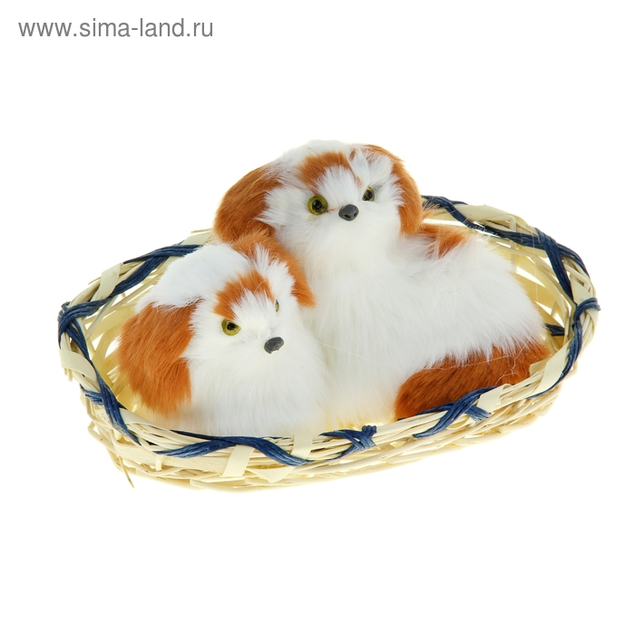 """Пушистик """"Белые щенки"""", цвета МИКС"""