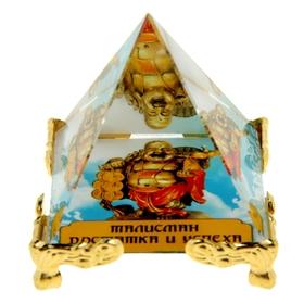 """Стеклянная пирамида Фэн-шуй """"Хоттей"""", достаток и успех, 5 х 5 см"""