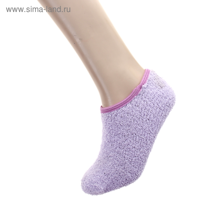 """Носки-тапочки """"Collorista"""" Сиреневый, р. 36-39, 100% п/э, акрил"""