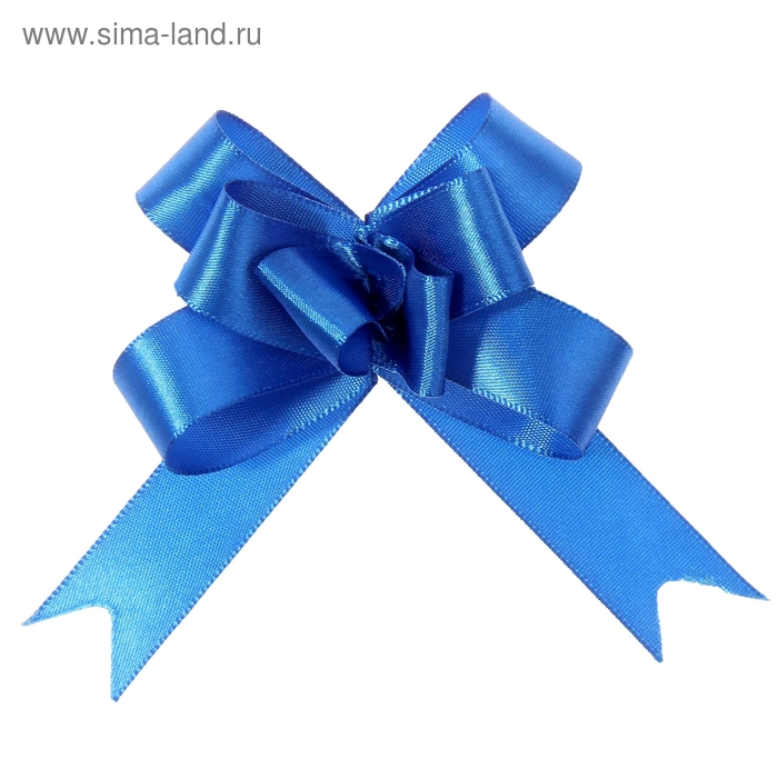 Бант-бабочка № 1,8 атласный, цвет синий