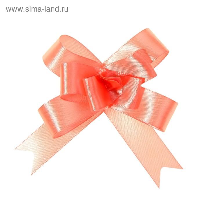Бант-бабочка № 1,8 атласный, цвет розовый
