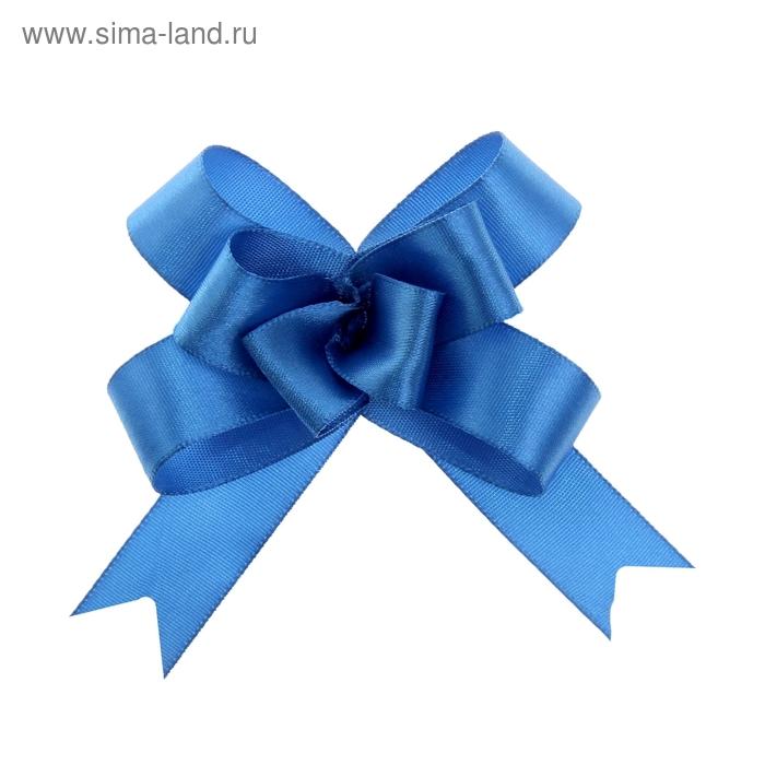 Бант-бабочка № 1,8 атласный, цвет голубой