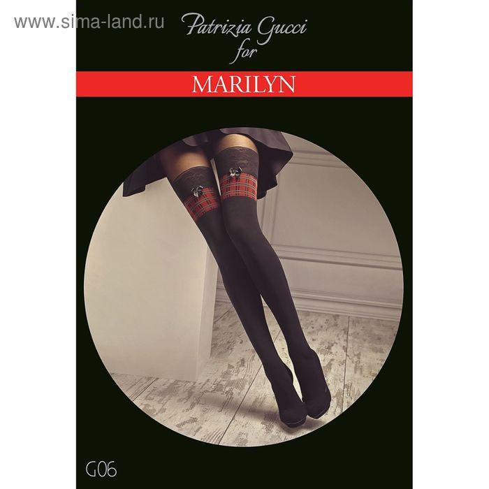 Колготки женские MARILYN GUCCI G06 100 (nero/red/grey, 1/2)
