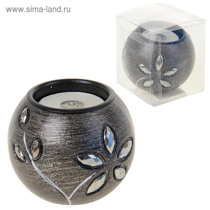 """Подсвечник со свечой """"Каменный цветок"""""""